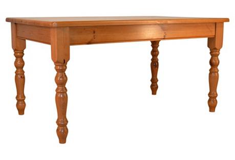 English Pine Table, C. 1950