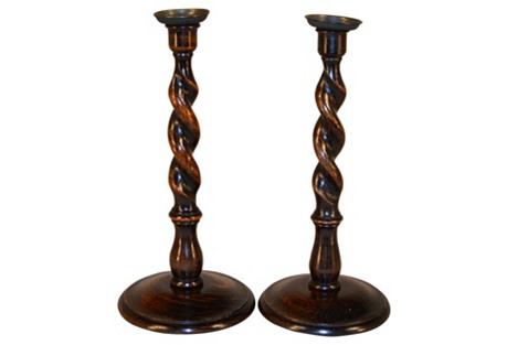 C. 1890   English Candlesticks,     Pair