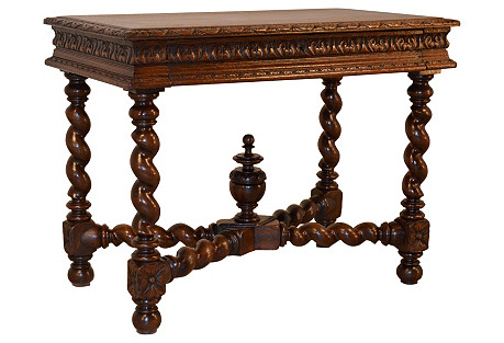 19th-C.  French Carved Side Table