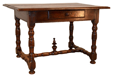 Early-18th-C. French Library Table