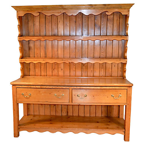 19th-C. English Pine Cupboard