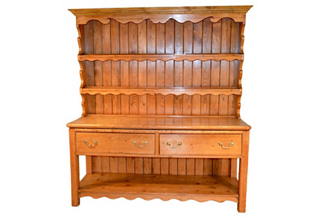 19th-C. English Pine    Cupboard