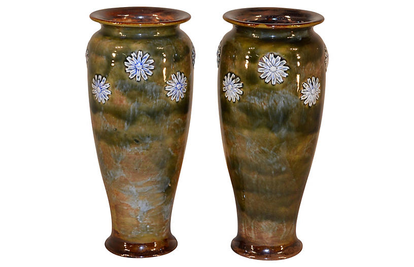 Pair of Royal Dolton Vases, c.1910