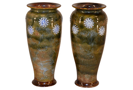 Pair of Royal Dolton Vases, c.1910
