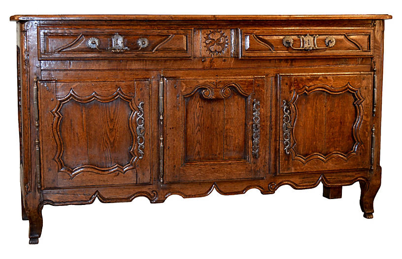 18th-C. Country French Petite Buffet