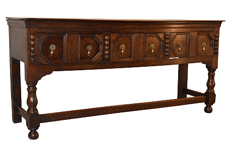 19th-C. English Paneled Sideboard