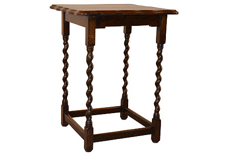 Square Side Table, C. 1900