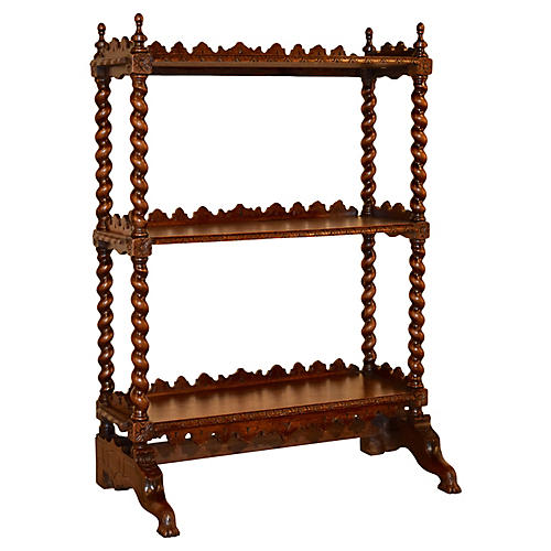19th-C. French Barley Twist Shelf