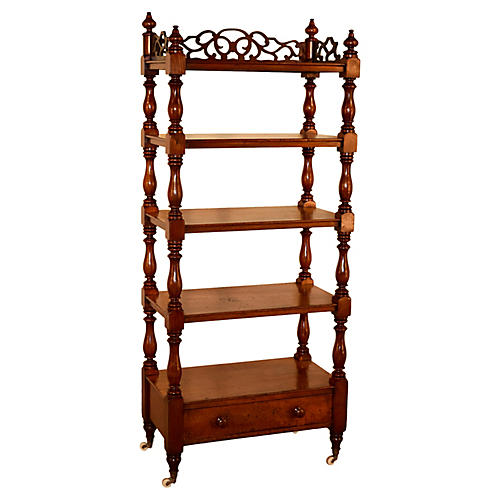 19th-C. English Mahogany Étagère