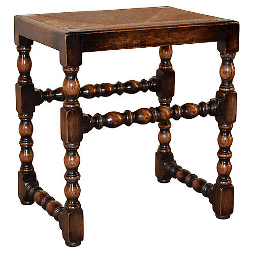 19th-C. English Turned Stool