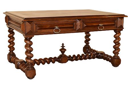 19th C. Walnut Coffee Table