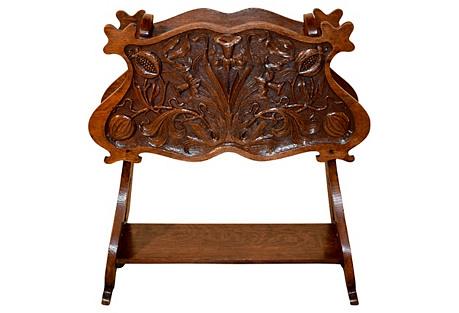 19th-C. Art Nouveau Magazine Stand