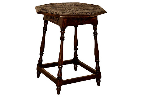 19th-C. Octagonal Side Table