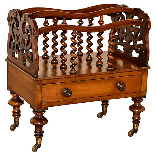 19th-C. Mahogany Canterbury