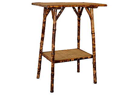 19th-C. French Bamboo Side Table