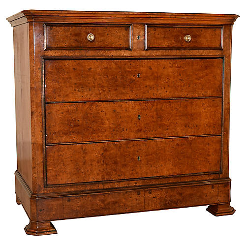 19th-C. Burl Elm French Commode