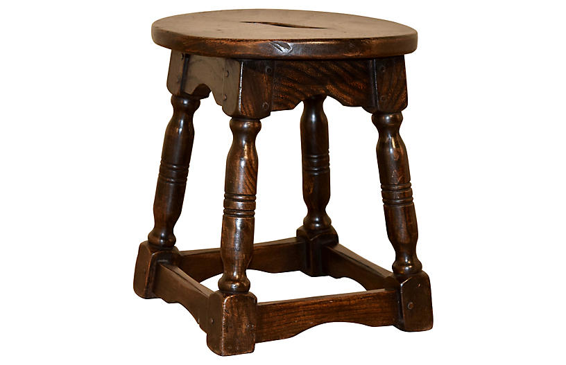 19th-C. French Stool