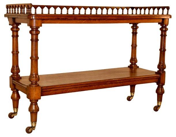 19th-C. English Serving Cart - Bar Carts & Cabinets - Dining Room ...