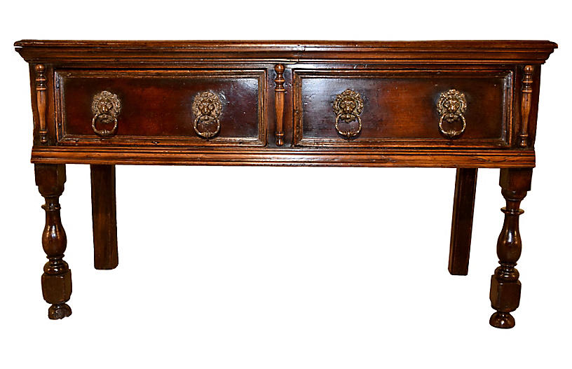 17th-C. English Sideboard