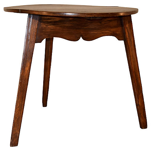 19th-C. Drop Leaf Cricket Table