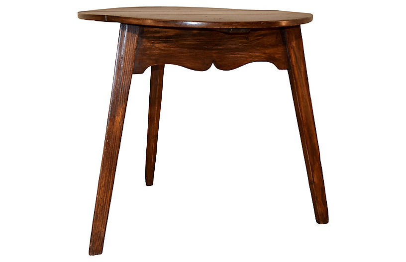 19th-C. Drop-Leaf Cricket Table
