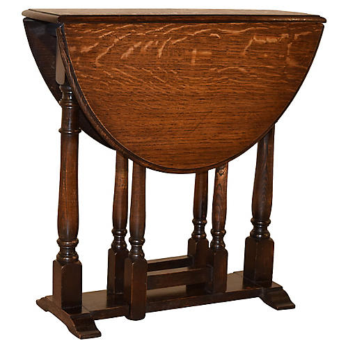 English Oak Gateleg Table, c. 1900