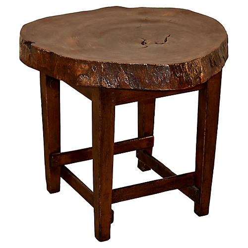 Walnut Live Edge Table, C. 1950s