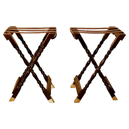 C. 1920 English Tray Stands, Pair