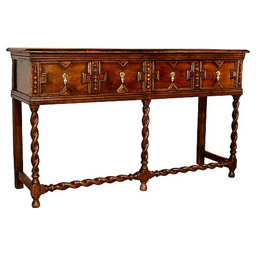 19th-C. English Oak Sideboard