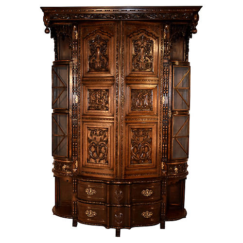 Circa 1897 English Cloak Cupboard