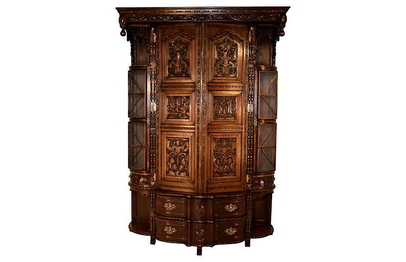 Circa 1897 English Cloak Cupboard