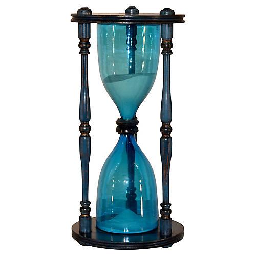 Midcentury Handblown Hourglass