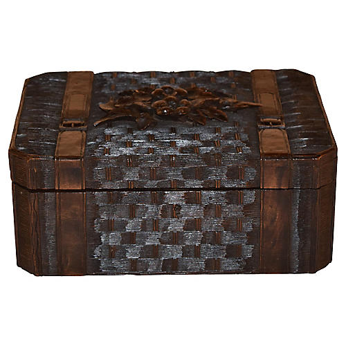 19th-C. Black Forest Dresser Box