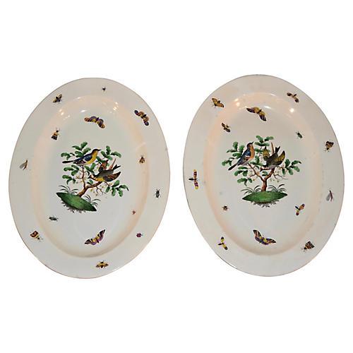 19th-C. Wedgwood Platters, S/2