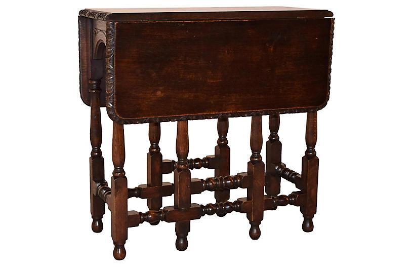 19th-C. Gate Leg Table