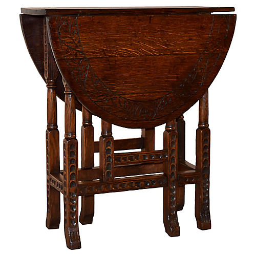 19th-C. English Gate-Leg Table