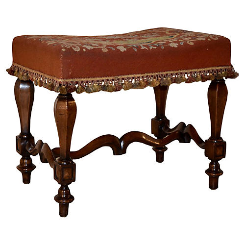 19th-C. French Mahogany Stool