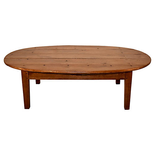 19th-C. Oval Coffee Table