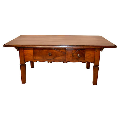 19th-C. Swiss Cherry Coffee Table