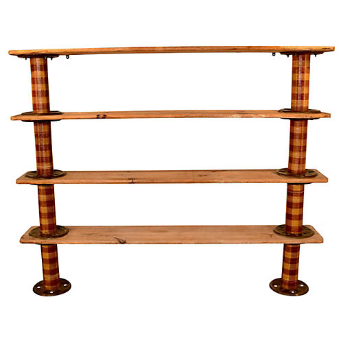 Industrial Spool Shelf