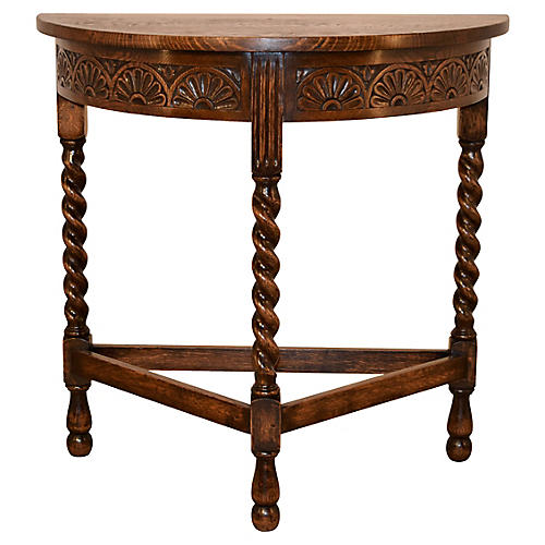 Late 19th-C. Demilune Table