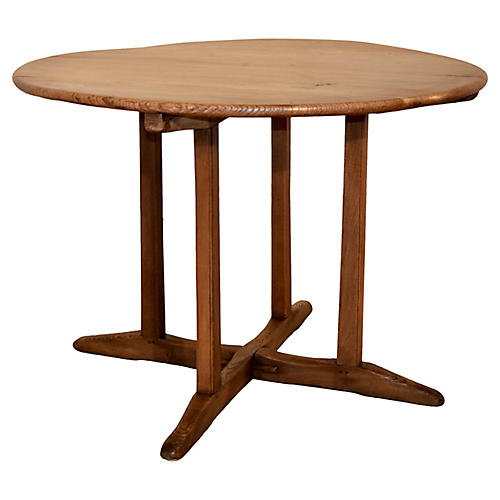 19th-C. French Elm Table