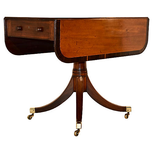 19th-C. Mahogany Sofa Table with Banding