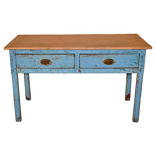 19th-C. English Pine Sideboard