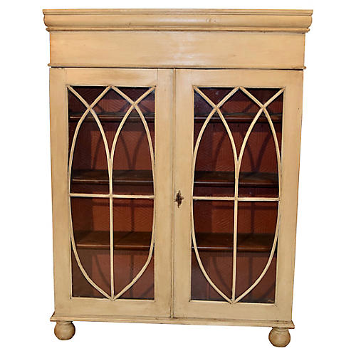 19th-C. English Painted Bookcase