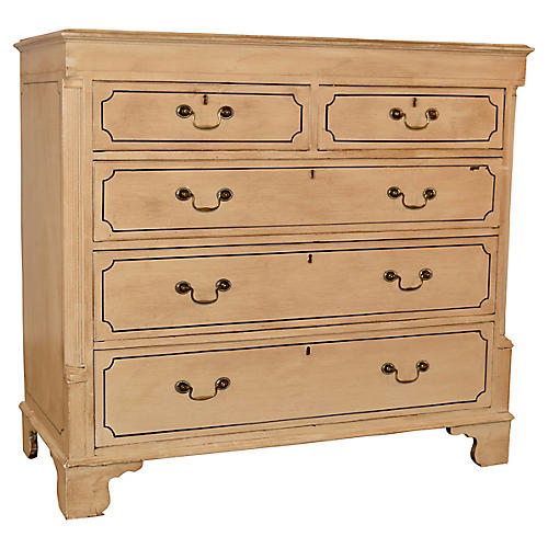 19th-C. Painted Chest