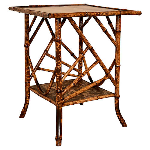 19th-C. Large Bamboo Table