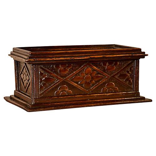 19th-C. English Carved Box