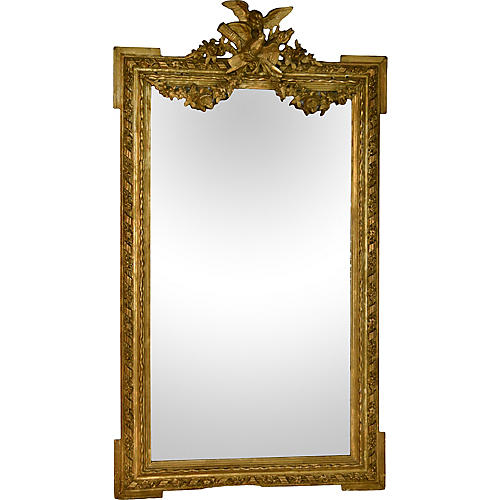 19th-C. French Gilded Mirror