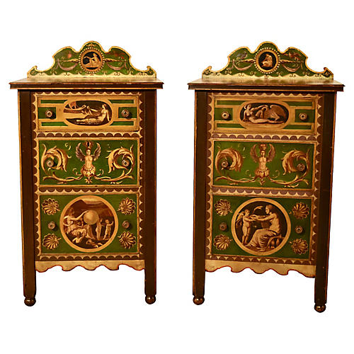19th-C. Italian Side Tables, Pair
